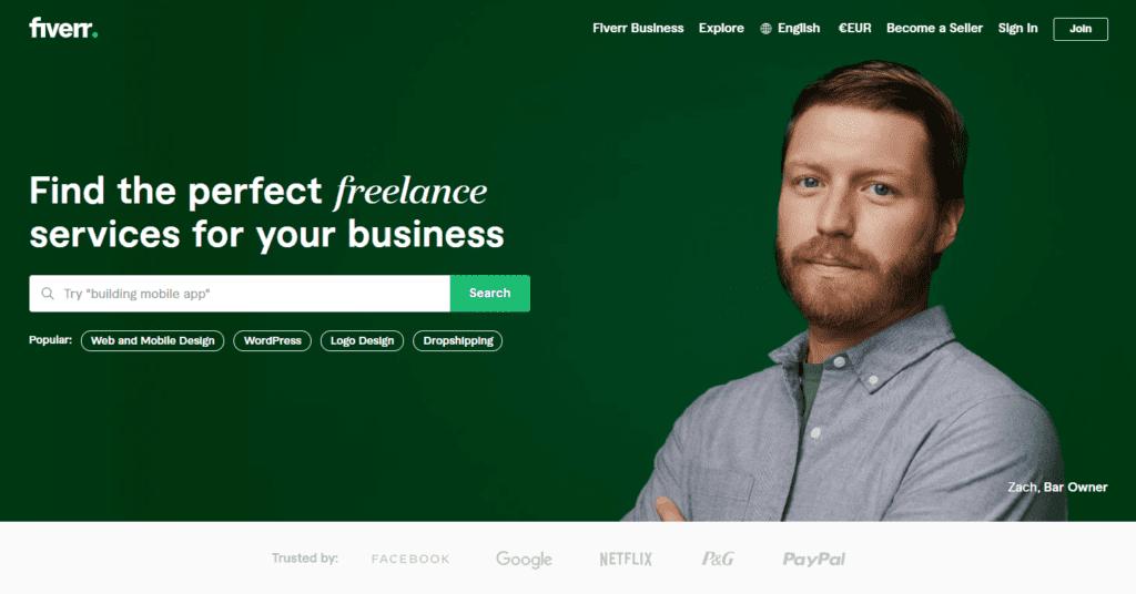 Best outsourcing websites number 1 - Fiverr Freelance Services Marketplace for Businesses