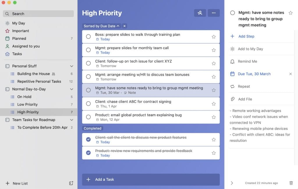 Microsoft To Do tool for managing tasks productively