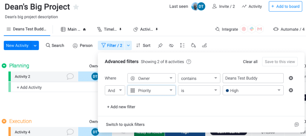 Monday - Advanced Reporting with Filter and Saving as New View