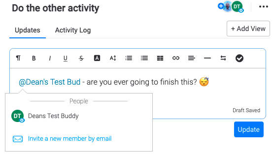 Monday - messaging and notifications to team members