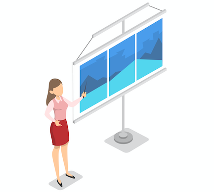 Presentation tips - use visuals and limit text