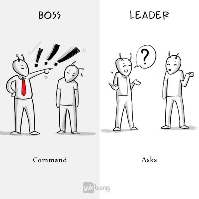 Differences between boss vs leader command asks