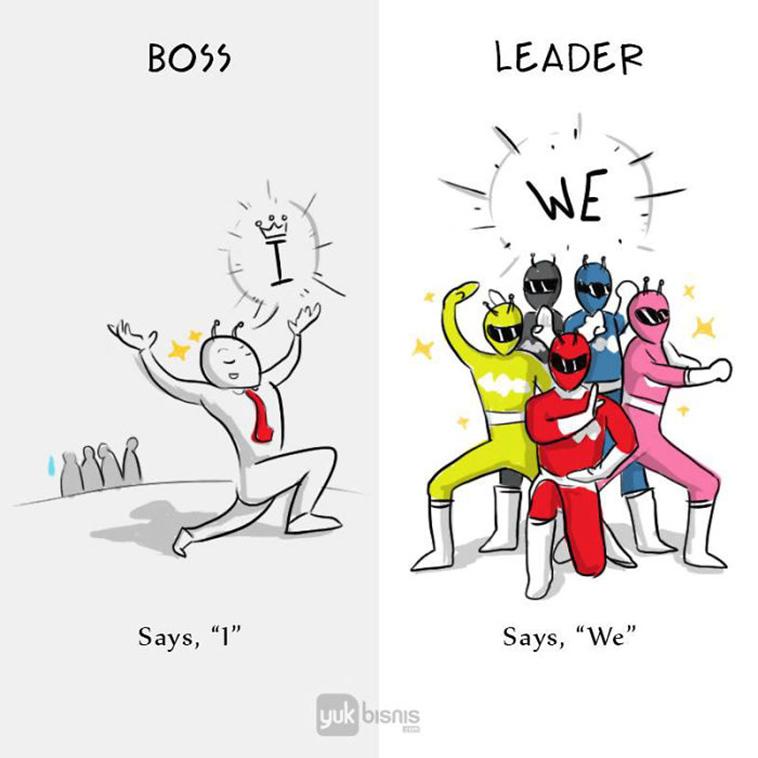 Differences between boss leader - we versus i