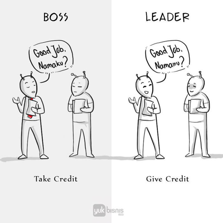 Leaders give credit and share successes with others